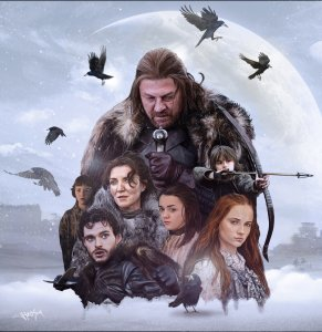 game_of_thrones__house_stark_painting_by_hax09-d5xmf3a