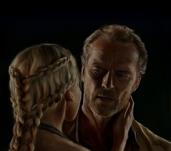 jorah_and_daenerys_by_daaria-d3l3qq4