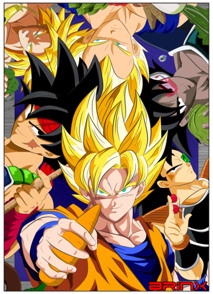 saiyans_and_vegetables__with_colour__by_brinx_dragonball-d7ag9x7